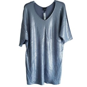 NWT Lane Bryant Silver Gray Sequin Dress 22/24